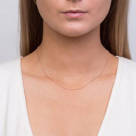 "40cm (16"") Fine Belcher Chain in 10ct Rose Gold"