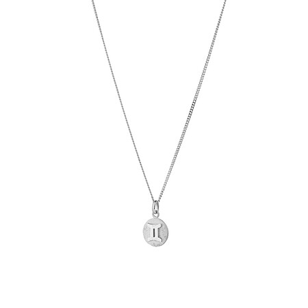 Gemini Zodiac Pendant in Sterling Silver