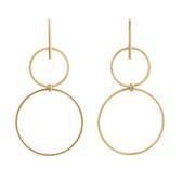 Geometric Drop Earrings in 10ct Yellow Gold