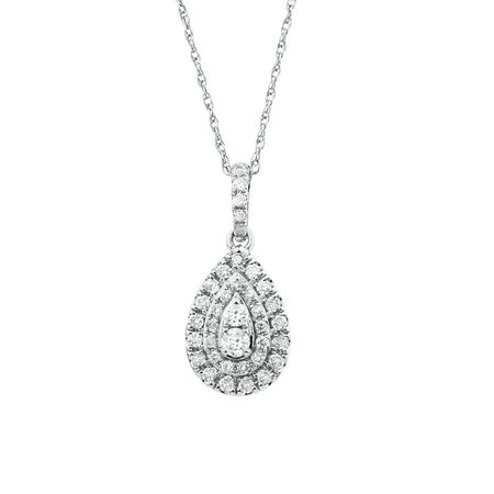 Sir Michael Hill Designer Fashion Pendant with 0.33 Carat TW of Diamonds in 10ct White Gold