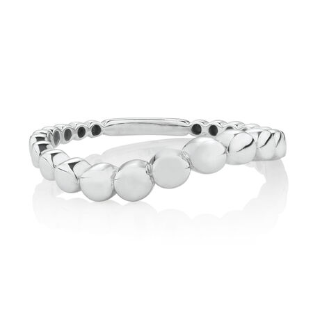 Ball Ring in 10ct White Gold