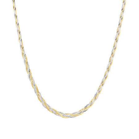 """70cm (28"""") Fancy Chain in 10ct Yellow & White Gold"""