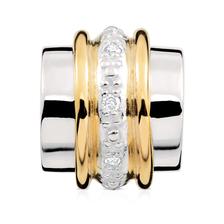 Diamond Set, 10ct Yellow Gold & Sterling Silver Charm