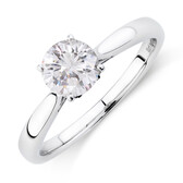Solitaire Engagement Ring with 1 Carat TW of Diamonds in 10ct White Gold