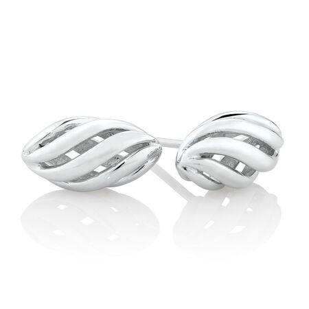 Oval Swirl Earrings in Sterling Stilver