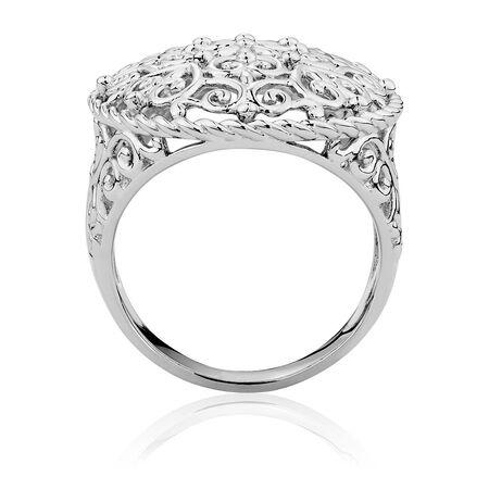Filigree Ring in Sterling Silver