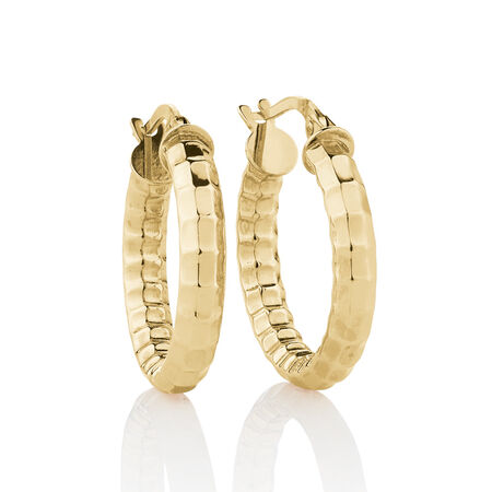 Hollow Hoop Earrings in 10ct Yellow Gold