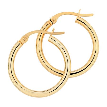 18mm Hoop Earrings in 10ct Yellow Gold