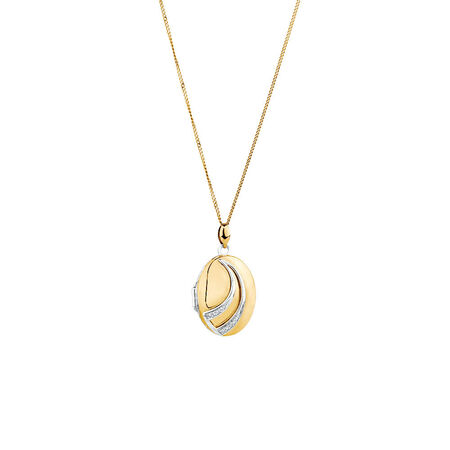 Oval Locket in 10ct Yellow Gold