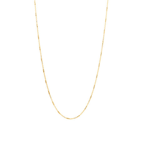 "45cm (18"") Chain in 10ct Yellow Gold"
