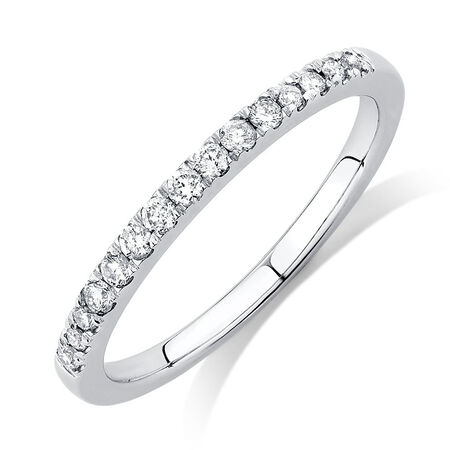 Diamond Ring with 0.18 Carat TW of Diamonds in 14ct White Gold