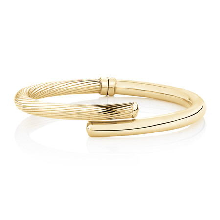 Oval Bangle in 14ct Yellow Gold