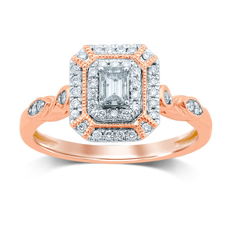 Ring with 0.40 Carat TW of Diamonds in 14ct Rose Gold