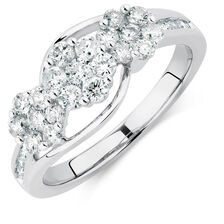 Online Exclusive - Engagement Ring with 1 Carat TW of Diamonds in 10ct White Gold
