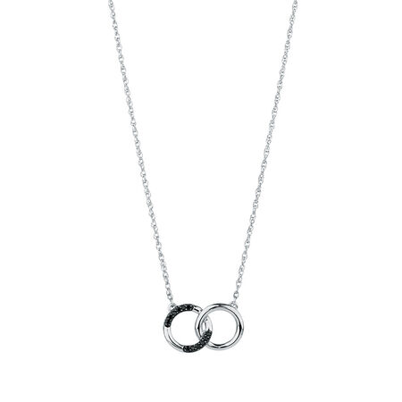 Pendant with Enhanced Black Diamonds in Sterling Silver