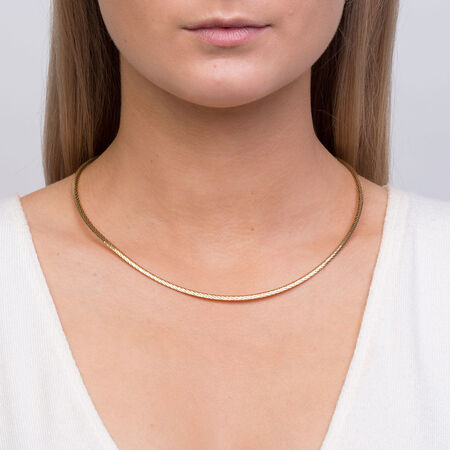 """45cm (18"""") Solid Omega Chain in 10ct Yellow Gold"""