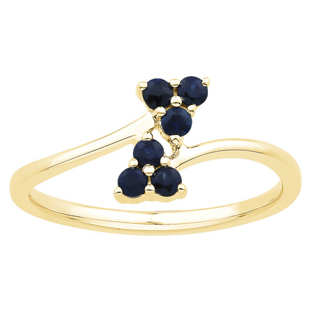 Ring with Sapphire in 10ct Yellow Gold