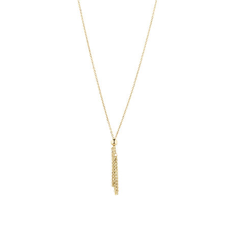 Adjustable Bead Necklace in 14ct Yellow Gold