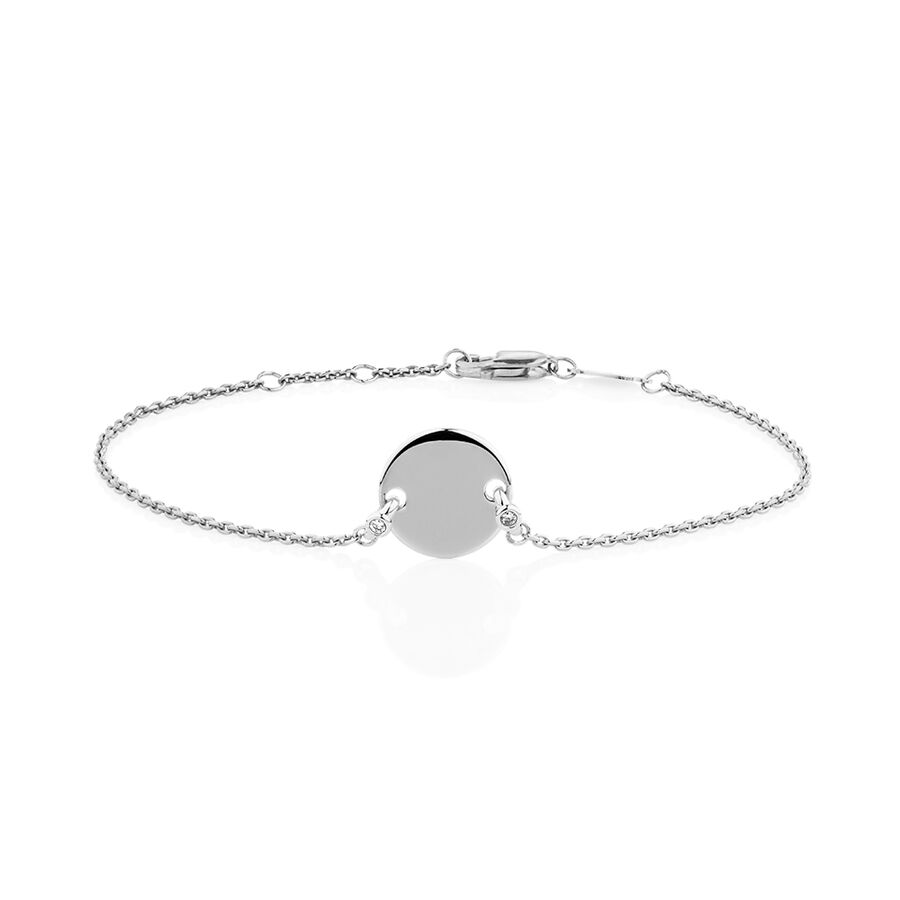 Compass Bracelet with Diamonds in Sterling Silver