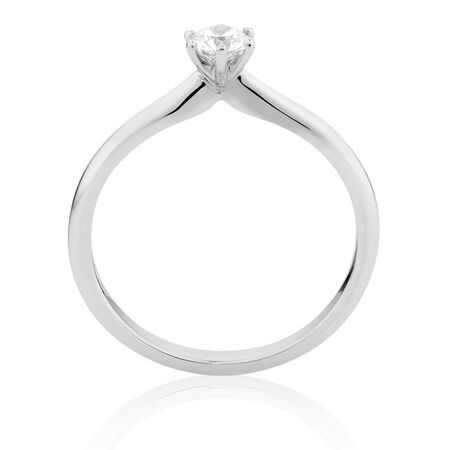 Certified Solitaire Engagement Ring with a 1/4 Carat TW Diamond in 18ct White Gold