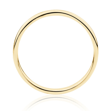 High Domed Wedding Band in 14ct Yellow Gold
