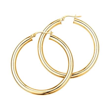 35mm Hoop Earrings in 10ct Yellow Gold