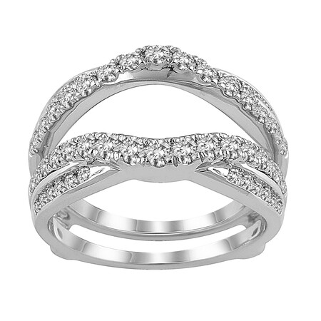 Enhancer Ring with 1.00 Carat TW of Diamonds in 14ct White Gold