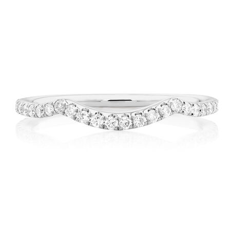 Sir Michael Hill Designer GrandAdagio Wedding Band with 0.35 Carat TW of Diamonds in 14ct White Gold