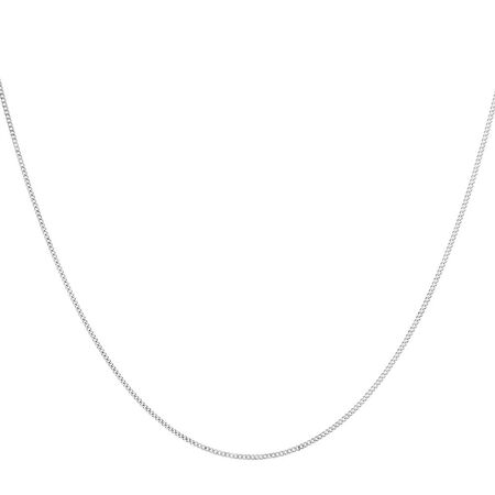 """45cm (18"""") Curb Chain in 10ct White Gold"""