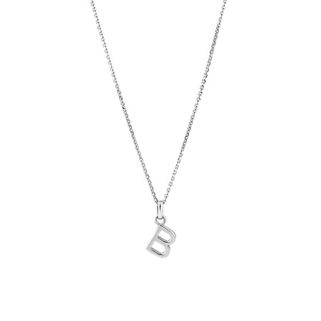 """""""B"""" Initial Pendant in Sterling Silver"""