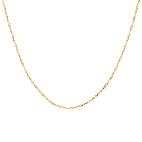 "60cm (24"") Hollow Singapore Chain in 10ct Yellow Gold"
