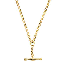 "45cm (18"") Hollow Belcher Fob Chain in 10ct Yellow Gold"