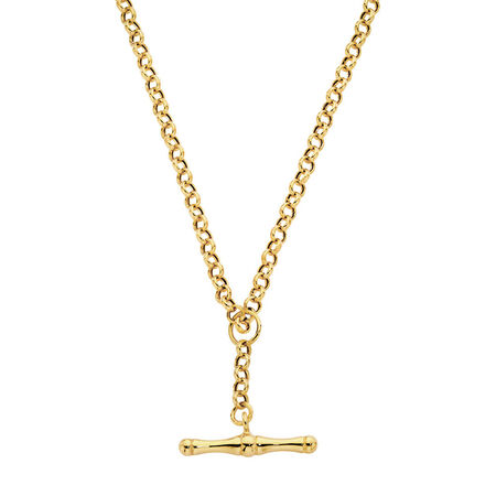 """45cm (18"""") Hollow Belcher Fob Chain in 10ct Yellow Gold"""