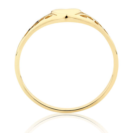 Heart Ring in 10ct Yellow Gold