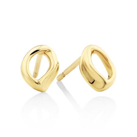 Mini Spirits Bay Stud Earrings In 10ct Yellow Gold