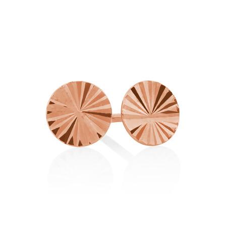 Stud Earrings in 10ct Rose Gold