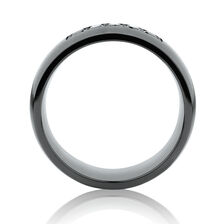 8mm Ring with Black Diamonds in Black Titanium