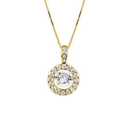 Everlight Pendant with 1/2 Carat TW of Diamonds in 14ct Yellow Gold