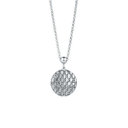 Fancy Circle Pendant in Sterling Silver