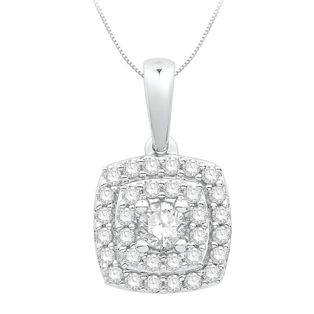 Pendant with 0.34 Carat TW of Diamonds in 10ct White Gold