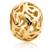 10ct Yellow Gold Filigree Charm