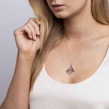 Infinitas Pendant in 10ct Rose Gold & Sterling Silver