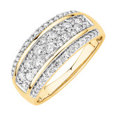 Ring with 0.70 TW of Diamonds in 10ct Yellow Gold