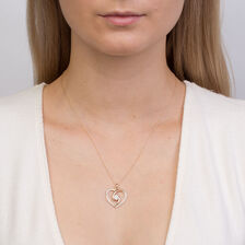 Online Exclusive - Heart Pendant with 0.20 Carat TW of Diamonds in 10ct Yellow Gold