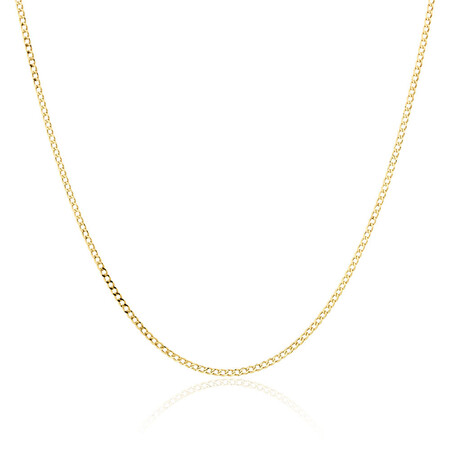 "55cm (22"") Hollow Curb Chain in 10ct Yellow Gold"