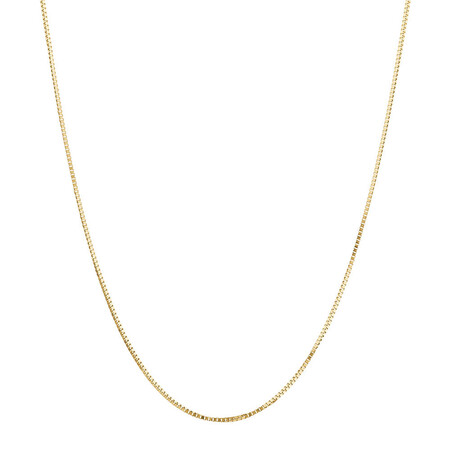 "50cm (20"") Box Chain in 18ct Yellow Gold"
