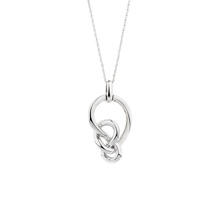 Medium Knots Pendant in Sterling Silver