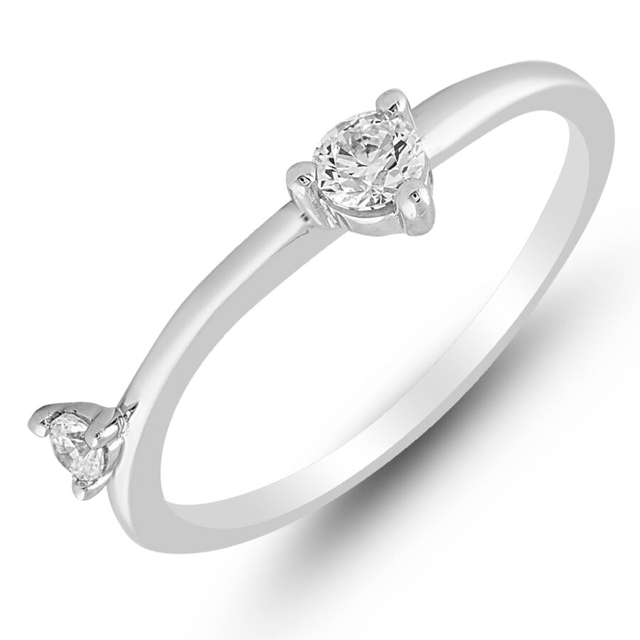 Ring with 0.25 Carat TW of Diamonds in 10ct White Gold