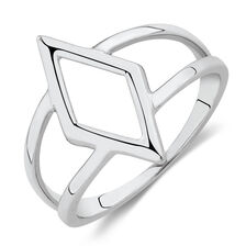 Geometric Ring in Sterling Silver
