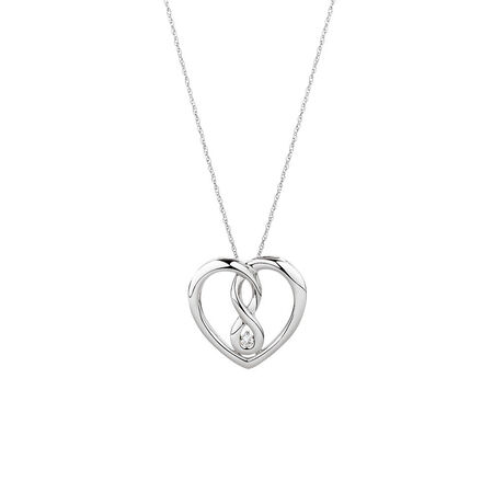 Medium Infinitas Pendant with a Diamond in Sterling Silver